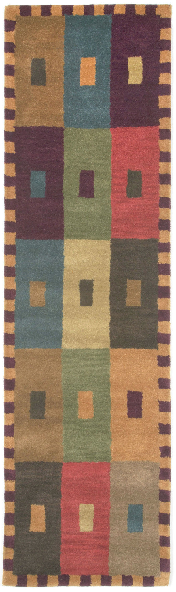 Trans-Ocean Imports INCR8944044 Inca Collection Green Finish Indoor Rug from Trans-Ocean