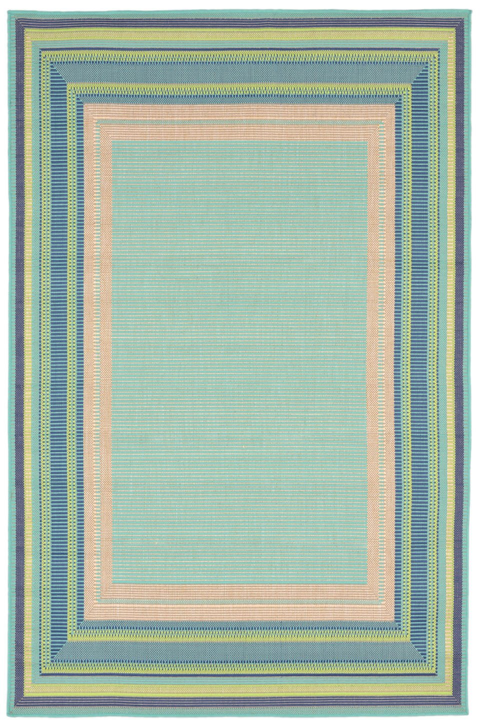 Trans-Ocean Imports PLY45136033 Playa Collection Blue Finish Everywear Rug from Trans-Ocean