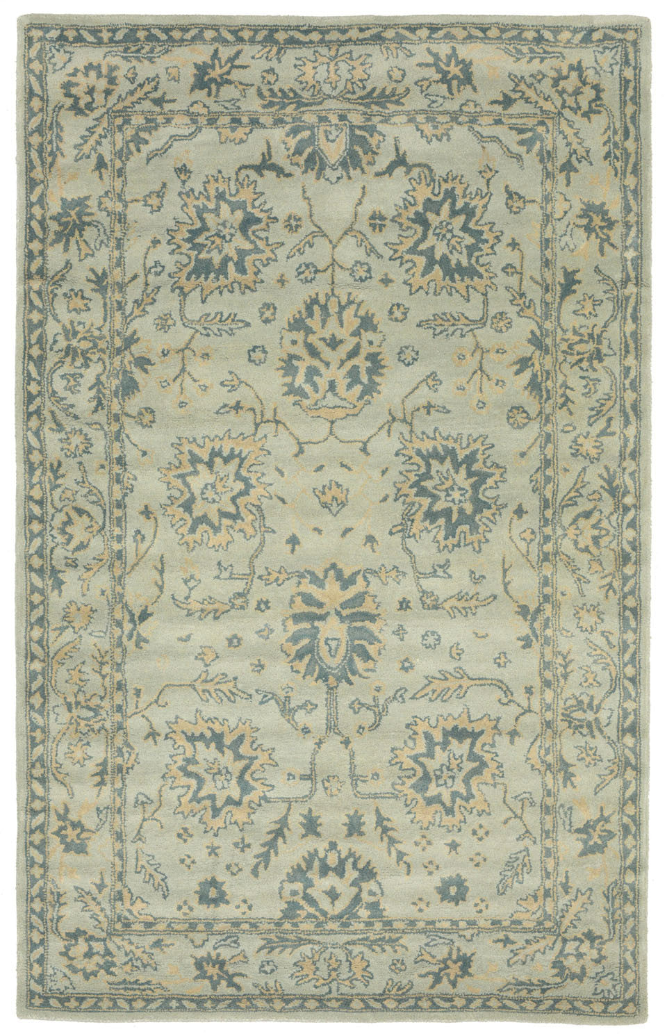 Trans-Ocean Imports PTA58907604 Petra Collection Blue Finish Indoor Rug from Trans-Ocean