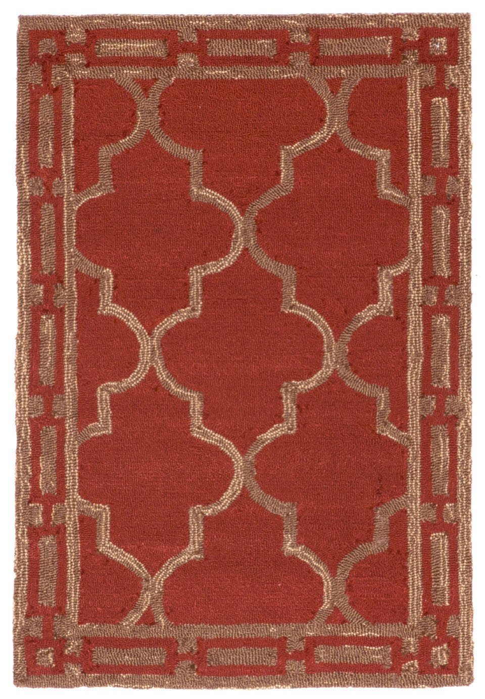 Trans-Ocean Imports RVL23197624 Ravella Collection Red Finish Everywear Rug from Trans-Ocean