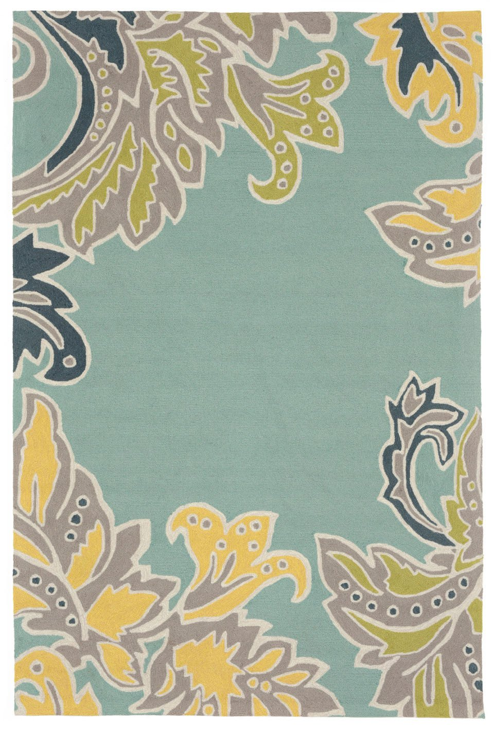 Trans-Ocean Imports RVL46194703 Ravella Collection Blue Finish Everywear Rug from Trans-Ocean