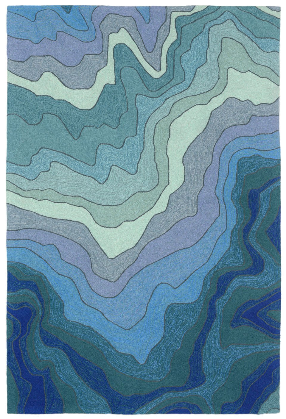 Trans-Ocean Imports RVL71226703 Ravella Collection Blue Finish Everywear Rug from Trans-Ocean