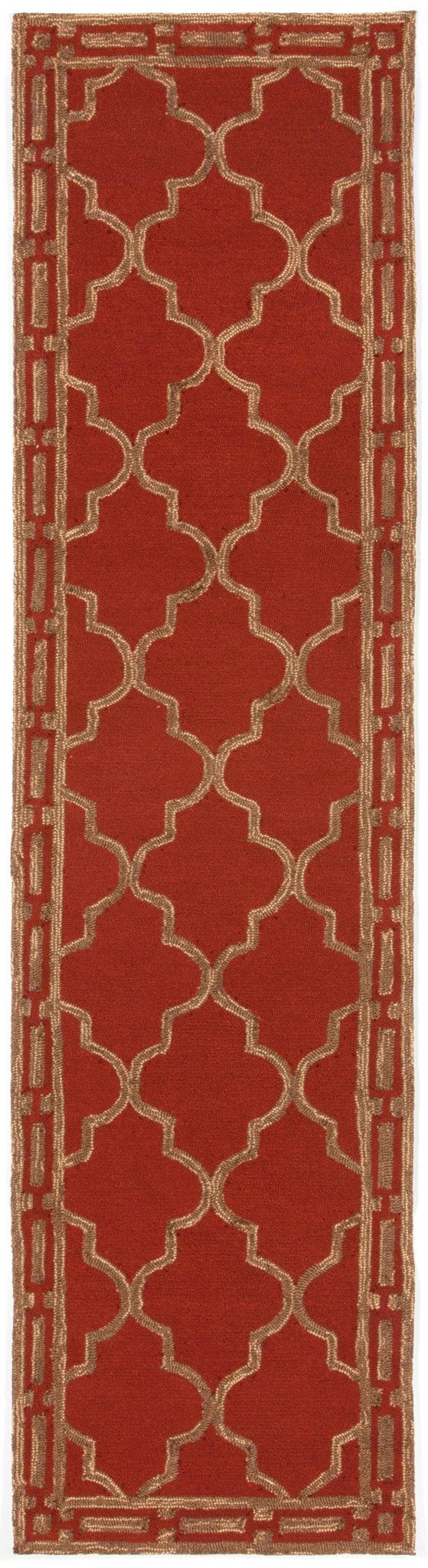 Trans-Ocean Imports RVLR8197624 Ravella Collection Red Finish Everywear Rug from Trans-Ocean