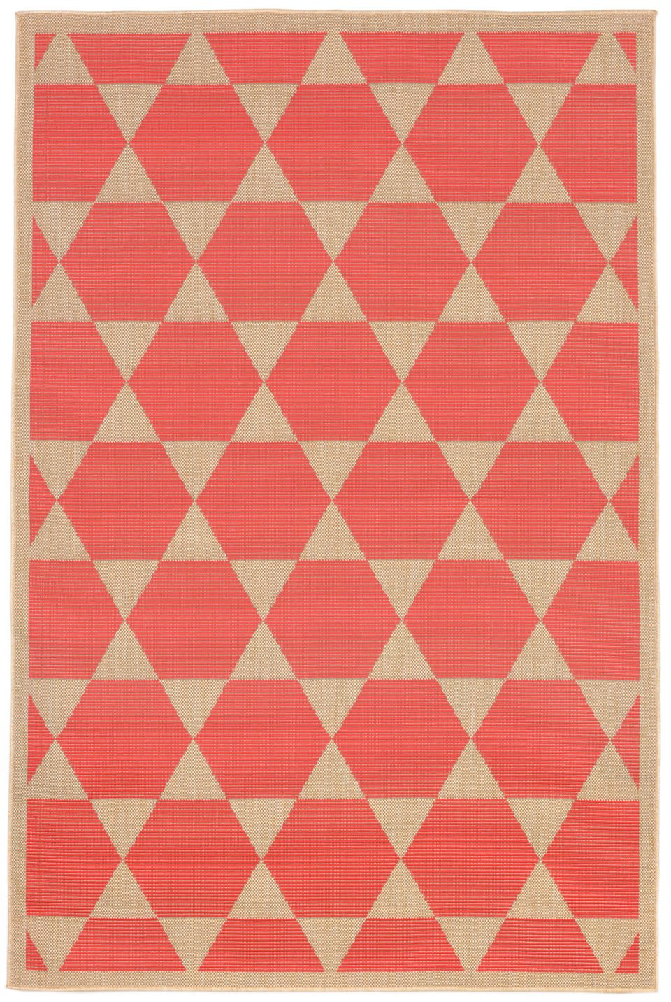 Trans-Ocean Imports TER23179627 Terrace Collection Orange Finish Everywear Rug from Trans-Ocean