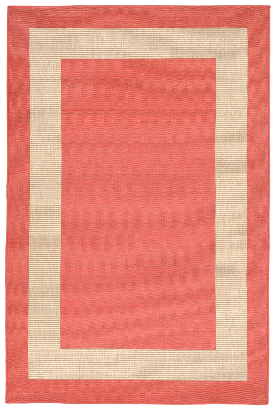Trans-Ocean Imports TER45178627 Terrace Collection Orange Finish Everywear Rug from Trans-Ocean
