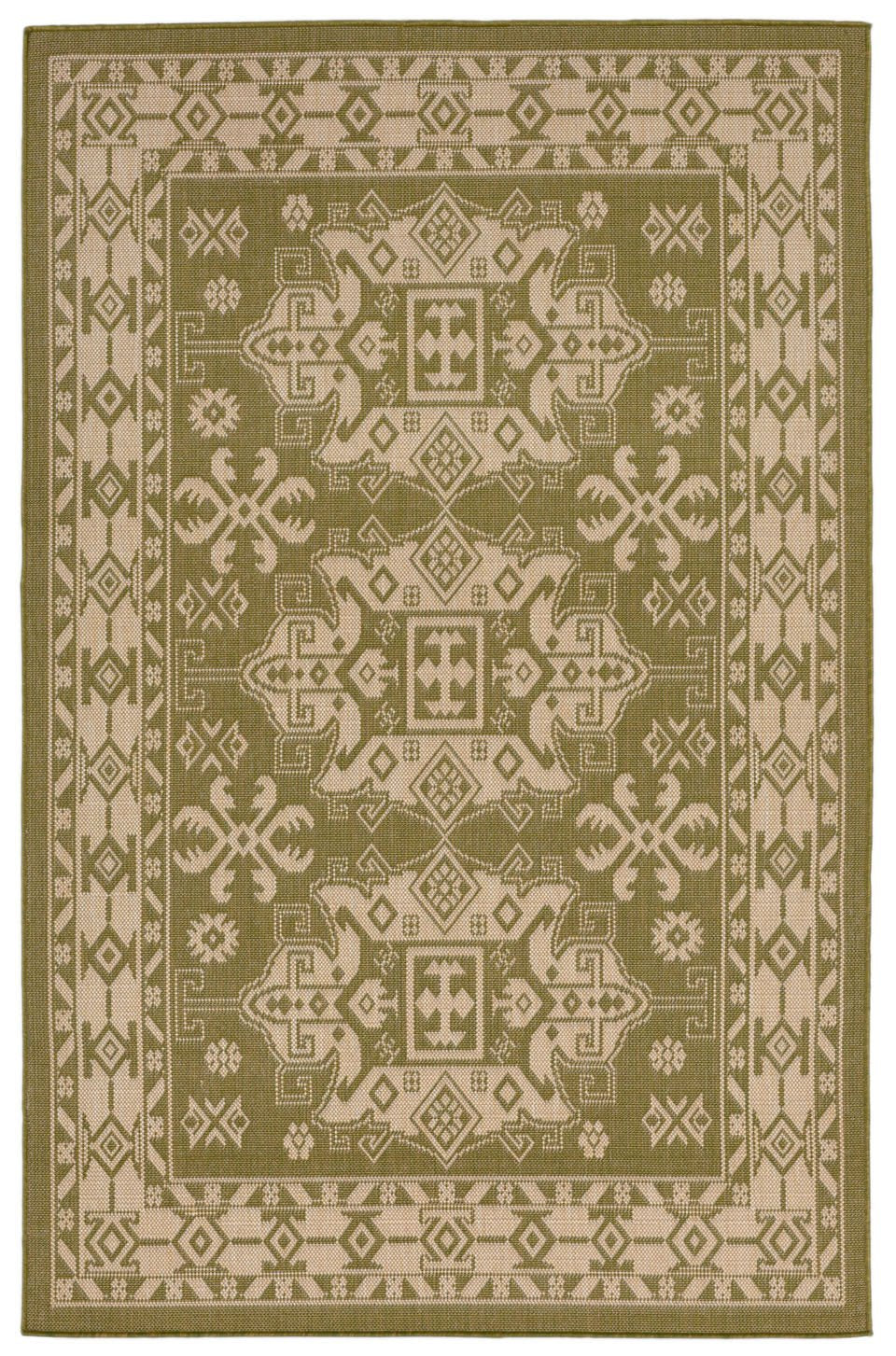 Trans-Ocean Imports TER58178176 Terrace Collection Green Finish Everywear Rug from Trans-Ocean