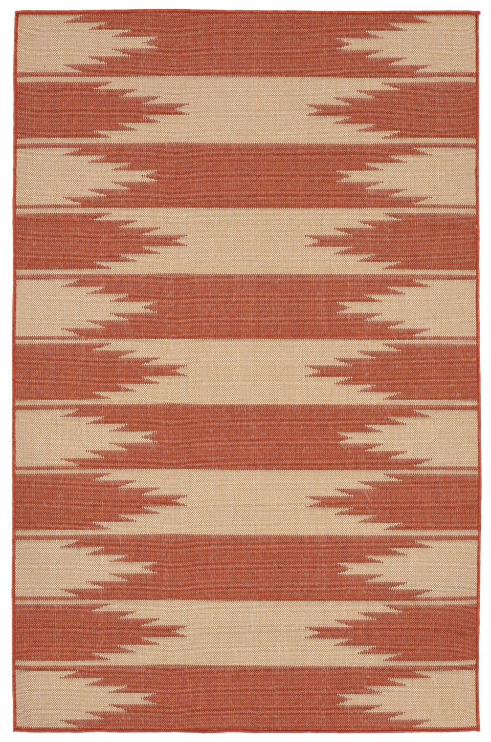 Trans-Ocean Imports TER80178574 Terrace Collection Orange Finish Everywear Rug from Trans-Ocean