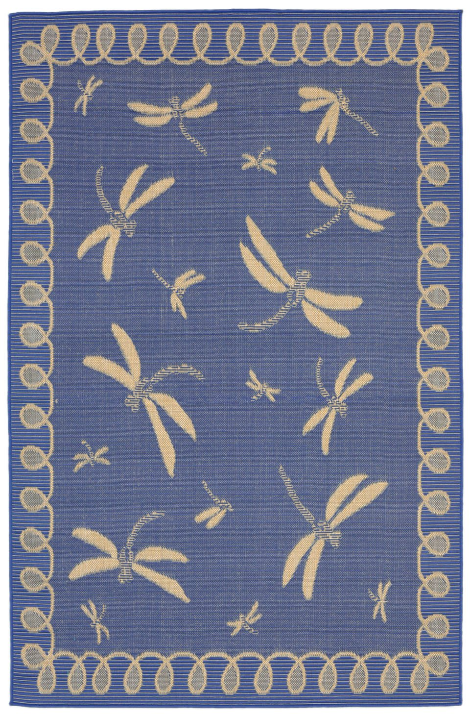 Trans-Ocean Imports TER80179133 Terrace Collection Blue Finish Everywear Rug from Trans-Ocean