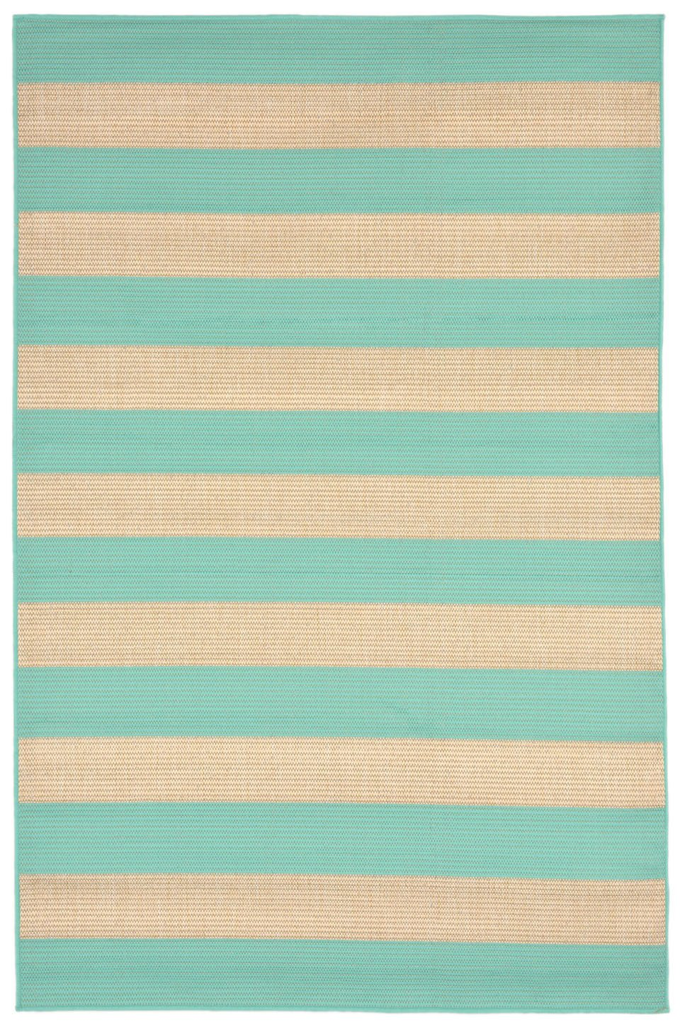 Trans-Ocean Imports TERR8178993 Terrace Collection Blue Finish Everywear Rug from Trans-Ocean