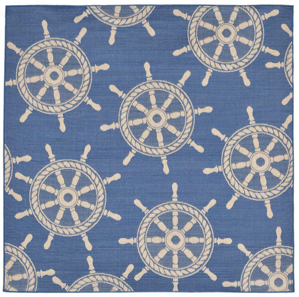 Trans-Ocean Imports TERS8178233 Terrace Collection Blue Finish Everywear Rug from Trans-Ocean