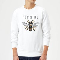 You're The Bees Knees Sweatshirt - White - M - White from The Valentines Collection