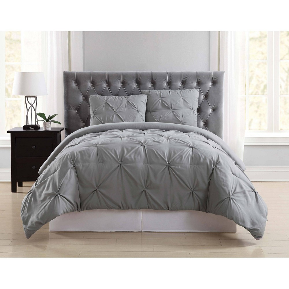 Truly Soft Everyday Full/Queen Pleated Duvet Cover Set Gray from Truly Soft