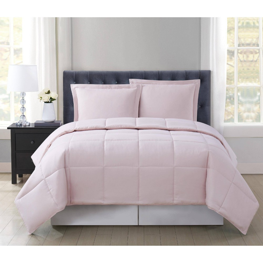 Truly Soft Everyday Full/Queen Reversible Comforter Set Blush from Truly Soft