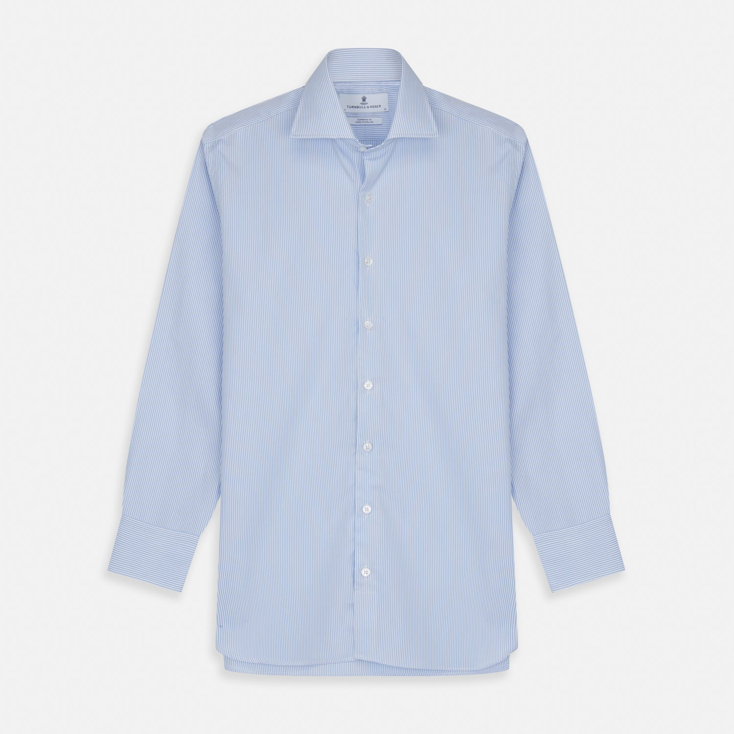 Blue Bengal Stripe Tailored Fit Shirt with Kent Collar and 2-Button Cuffs - 18.0 from Turnbull & Asser