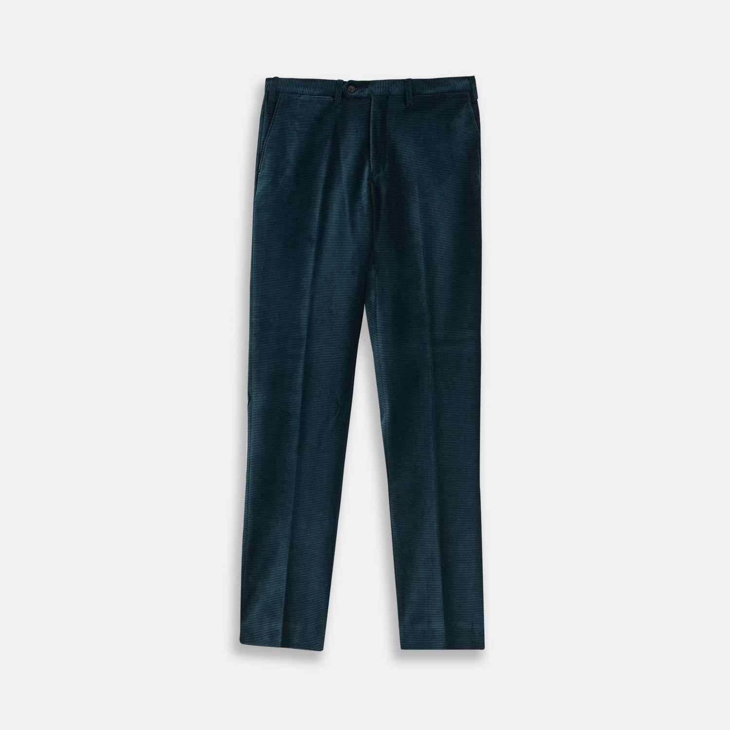 Forest Green Horizontal Cord Trousers - 36 from Turnbull & Asser