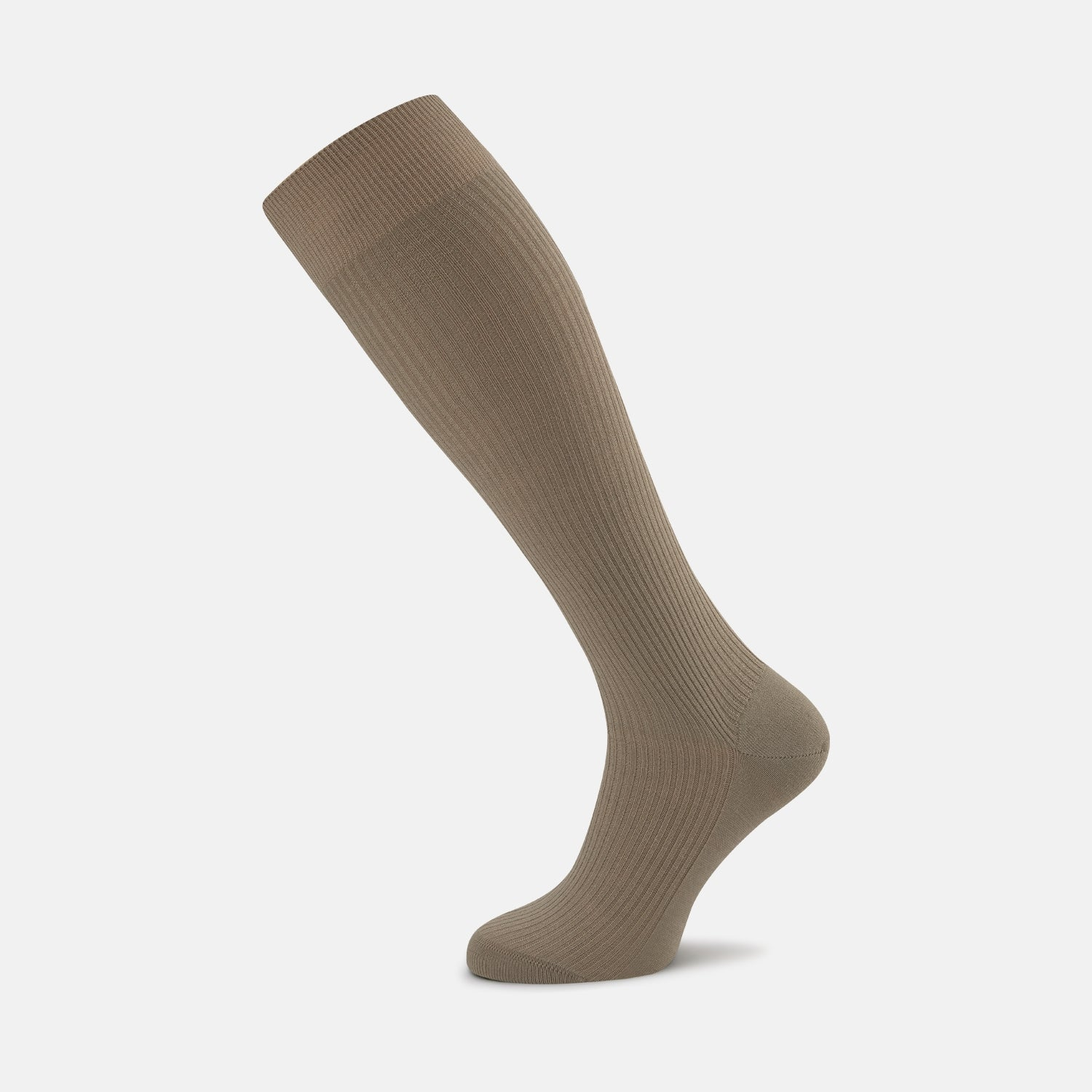 Light Khaki Long Merino Wool Socks - 11.0 from Turnbull & Asser