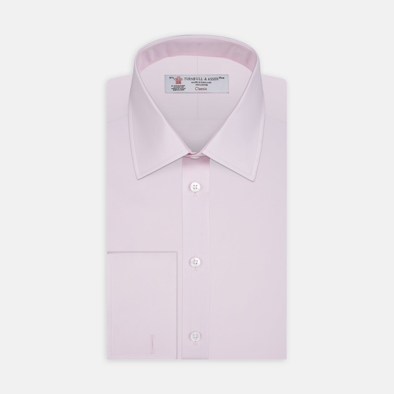 Pink Cotton Shirt with T&A Collar and Double Cuffs - 19.0 from Turnbull & Asser