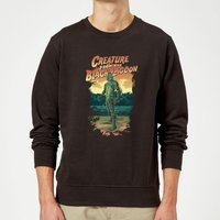 Universal Monsters Creature From The Black Lagoon Illustrated Sweatshirt - Black - XL - Black from Universal Monsters