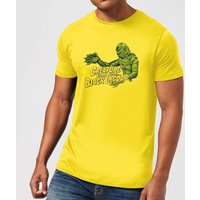 Universal Monsters Creature From The Black Lagoon Retro Crest Men's T-Shirt - Yellow - S - Yellow from Universal Monsters