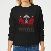 Universal Monsters Dracula Christmas Women's Sweatshirt - Black - 5XL - Black from Universal Monsters
