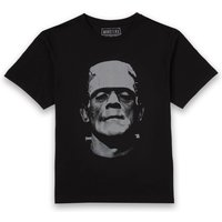 Universal Monsters Frankenstein Black and White Men's T-Shirt - Black - M - Black from Universal Monsters