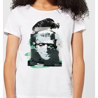 Universal Monsters Frankenstein Collage Women's T-Shirt - White - S - White from Universal Monsters
