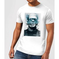 Universal Monsters Frankenstein Glitch Men's T-Shirt - White - L - White from Universal Monsters
