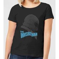 Universal Monsters The Invisible Man Greyscale Women's T-Shirt - Black - S - Black from Universal Monsters