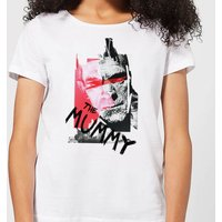 Universal Monsters The Mummy Collage Women's T-Shirt - White - S - White from Universal Monsters
