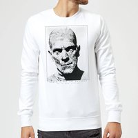 Universal Monsters The Mummy Portrait Sweatshirt - White - XXL - White from Universal Monsters