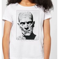 Universal Monsters The Mummy Portrait Women's T-Shirt - White - S - White from Universal Monsters