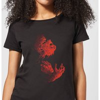 Universal Monsters The Wolfman Illustrated Women's T-Shirt - Black - L - Black from Universal Monsters