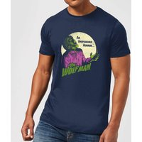 Universal Monsters The Wolfman Retro Men's T-Shirt - Navy - M - Navy from Universal Monsters