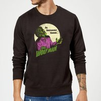 Universal Monsters The Wolfman Retro Sweatshirt - Black - XXL - Black from Universal Monsters