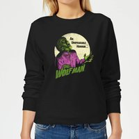Universal Monsters The Wolfman Retro Women's Sweatshirt - Black - L - Black from Universal Monsters