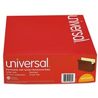 5 1/4 Inch Expansion File Pockets, Straight Tab, Letter, Redrope/Manila, 10/Box from Universal