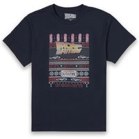 Back To The Future OUTATIME Men's Christmas T-Shirt - Navy - S - Navy from Universal