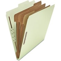 Classification Folders Letter Size 8 Section, 3 Dividers, Gray-Green Pressboard, Top Tab, 10/Box from Universal