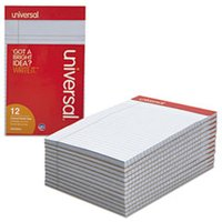 Colored Perforated Ruled Writing Pad, Narrow Rule, 5 x 8, Orchid, 50 Sheets, DZ from Universal
