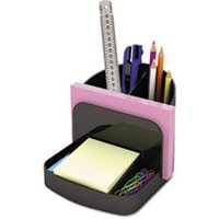 Desk Organizer and Message Center, Six Sections with Sticky Notes and Envelope Holders, Black from Universal