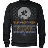 E.T Phone Home Fairisle Men's Christmas Sweatshirt - Black - XL - Black from Universal