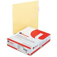 Economical Insertable Index, Clear Tabs, 5-Tab, Letter, Buff, 24 Sets/Box from Universal