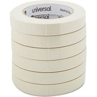 "General Purpose Masking Tape, 18mm x 54.8m, 3"" Core, 6/Pack from Universal"