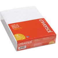 Glue Top Pad, Legal Rule, Letter, White, 50 Sheet Pad/Pack, Dozen from Universal