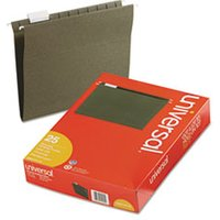 Hanging File Folders Letter Size 1/5 Tab, 11 Pt. Stock, Standard Green, 25/Box from Universal