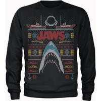Jaws Fairisle Men's Christmas Sweatshirt - Black - S - Black from Universal