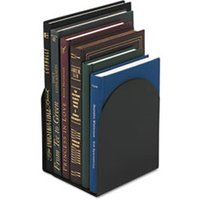 Magnetic Bookends, 6 x 5 x 7, Metal, Black from Universal