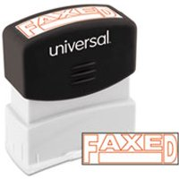 Message Stamp, FAXED, Pre-Inked One-Color, Red from Universal