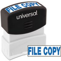 Message Stamp, FILE COPY, Pre-Inked One-Color, Blue from Universal