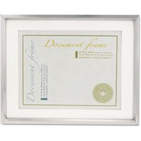 Plastic Document Frame w/Mat, 11 x 14 & 8 1/2 x 11 Inserts, Metallic Silver from Universal
